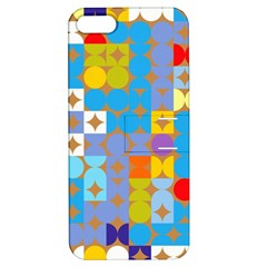 Circles And Rhombus Pattern Apple Iphone 5 Hardshell Case With Stand by LalyLauraFLM