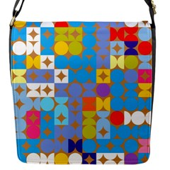 Circles And Rhombus Pattern Flap Closure Messenger Bag (s) by LalyLauraFLM