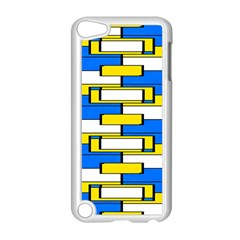 Yellow Blue White Shapes Pattern Apple Ipod Touch 5 Case (white) by LalyLauraFLM