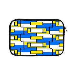 Yellow Blue White Shapes Pattern Apple Ipad Mini Zipper Case by LalyLauraFLM