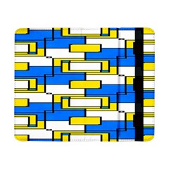 Yellow Blue White Shapes Pattern	samsung Galaxy Tab Pro 8 4  Flip Case