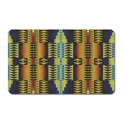 Triangles And Other Shapes Pattern Magnet (rectangular) by LalyLauraFLM
