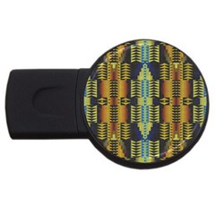 Triangles And Other Shapes Pattern Usb Flash Drive Round (2 Gb) by LalyLauraFLM