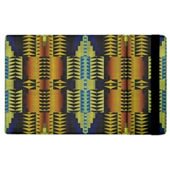 Triangles And Other Shapes Pattern Apple Ipad 3/4 Flip Case by LalyLauraFLM