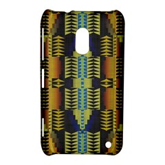 Triangles And Other Shapes Pattern Nokia Lumia 620 Hardshell Case by LalyLauraFLM