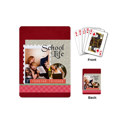 Back To School By School   Playing Cards (mini)   9kxyz4r6f341   Www Artscow Com Back