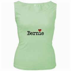 Bernie Love Women s Green Tank Tops by berniesanders2016