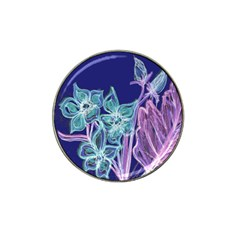 Purple, Pink Aqua Flower Style Hat Clip Ball Marker (4 Pack) by Contest1918526