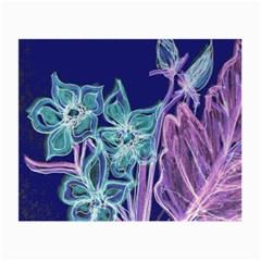 Purple, Pink Aqua Flower Style Small Glasses Cloth