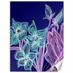 Purple, Pink Aqua Flower Style Canvas 36  X 48   by Contest1918526