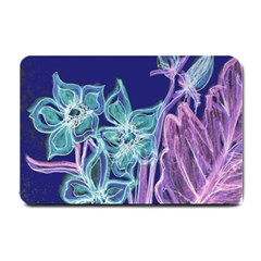 Purple, Pink Aqua Flower Style Small Doormat  by Contest1918526