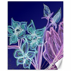 Purple, Pink Aqua Flower Style Canvas 11  X 14   by Contest1918526