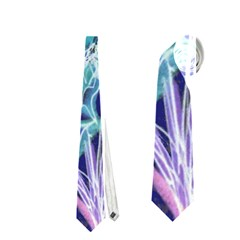 Purple, Pink Aqua Flower Style Neckties (one Side)  by Contest1918526