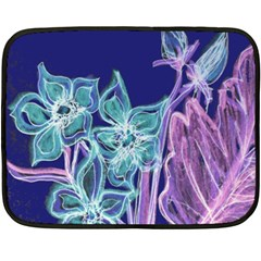 Purple, Pink Aqua Flower Style Double Sided Fleece Blanket (mini)  by Contest1918526
