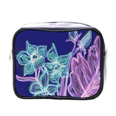 Purple, Pink Aqua Flower Style Mini Toiletries Bags by Contest1918526