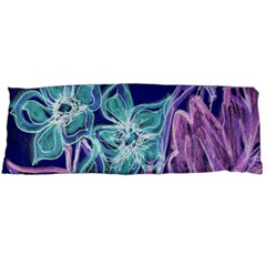 Purple, Pink Aqua Flower Style Body Pillow Cases (dakimakura)  by Contest1918526