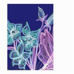 Purple, Pink Aqua Flower Style Small Garden Flag (two Sides) by Contest1918526