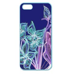 Purple, Pink Aqua Flower Style Apple Seamless Iphone 5 Case (color) by Contest1918526