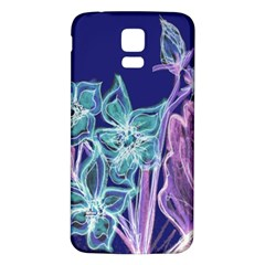 Purple, Pink Aqua Flower Style Samsung Galaxy S5 Back Case (white) by Contest1918526