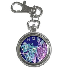 Purple, Pink Aqua Flower Style Key Chain Watches by Contest1918526