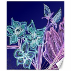 Purple, Pink Aqua Flower Style Canvas 8  X 10  by Contest1918526