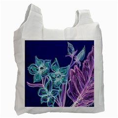 Purple, Pink Aqua Flower Style Recycle Bag (two Side)  by Contest1918526