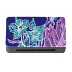 Purple, Pink Aqua Flower Style Memory Card Reader With Cf by Contest1918526