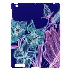 Purple, Pink Aqua Flower Style Apple Ipad 3/4 Hardshell Case by Contest1918526
