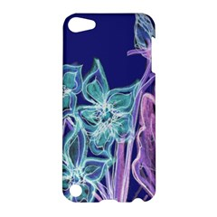 Purple, Pink Aqua Flower Style Apple Ipod Touch 5 Hardshell Case by Contest1918526