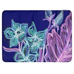 Purple, Pink Aqua Flower Style Samsung Galaxy Tab 7  P1000 Flip Case by Contest1918526
