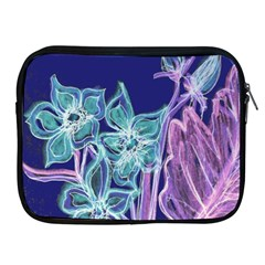 Purple, Pink Aqua Flower Style Apple Ipad 2/3/4 Zipper Cases by Contest1918526