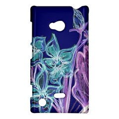 Purple, Pink Aqua Flower Style Nokia Lumia 720 by Contest1918526