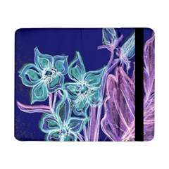 Purple, Pink Aqua Flower Style Samsung Galaxy Tab Pro 8 4  Flip Case by Contest1918526