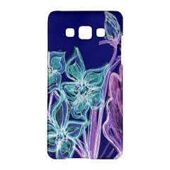 Purple, Pink Aqua Flower Style Samsung Galaxy A5 Hardshell Case  by Contest1918526