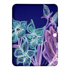 Purple, Pink Aqua Flower Style Samsung Galaxy Tab 4 (10 1 ) Hardshell Case  by Contest1918526