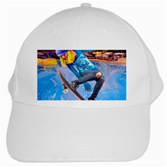 Skateboarding On Water White Cap by icarusismartdesigns