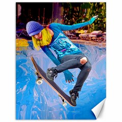 Skateboarding On Water Canvas 12  X 16   by icarusismartdesigns