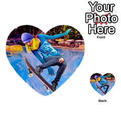 Skateboarding On Water Multi Purpose Cards (heart)  by icarusismartdesigns