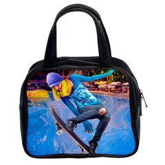 Skateboarding On Water Classic Handbags (2 Sides) by icarusismartdesigns