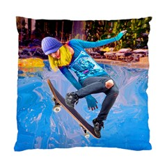 Skateboarding On Water Standard Cushion Cases (two Sides)  by icarusismartdesigns