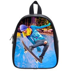 Skateboarding On Water School Bags (small)  by icarusismartdesigns