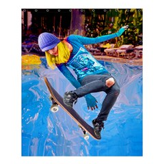 Skateboarding On Water Shower Curtain 60  X 72  (medium)  by icarusismartdesigns