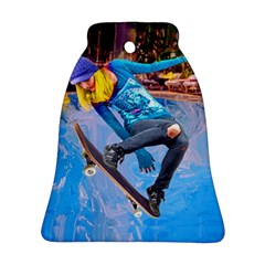 Skateboarding On Water Bell Ornament (2 Sides) by icarusismartdesigns