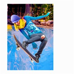 Skateboarding On Water Small Garden Flag (two Sides) by icarusismartdesigns
