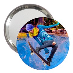 Skateboarding On Water 3  Handbag Mirrors by icarusismartdesigns