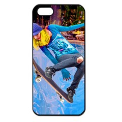 Skateboarding On Water Apple Iphone 5 Seamless Case (black) by icarusismartdesigns