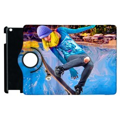 Skateboarding On Water Apple Ipad 3/4 Flip 360 Case by icarusismartdesigns