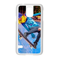 Skateboarding On Water Samsung Galaxy S5 Case (white) by icarusismartdesigns