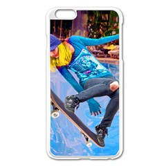 Skateboarding On Water Apple Iphone 6 Plus Enamel White Case by icarusismartdesigns
