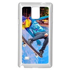 Skateboarding On Water Samsung Galaxy Note 4 Case (white) by icarusismartdesigns